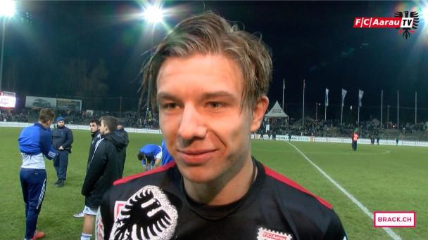 Video-Cover: FC Aarau - FC Wohlen 2:0 (12.03.2016, Stimmen zum Spiel)
