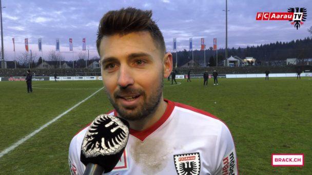 Video-Cover: FC Aarau - FC Wohlen 4:2 (04.03.2018, Stimmen zum Spiel)