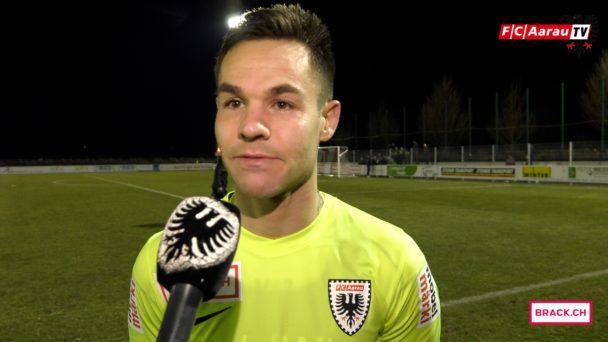 Video-Cover: FC Rapperswil-Jona - FC Aarau 2:0 (08.03.2018, Stimmen zum Spiel)