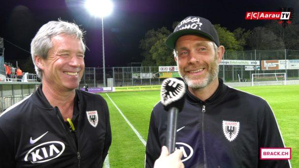 Video-Cover: FC Aarau - Neuchâtel Xamax FCS 2:2 (18.04.2018, Stimmen zum Spiel)