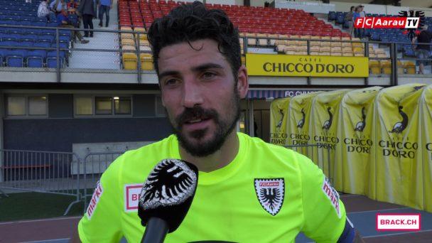 Video-Cover: FC Chiasso - FC Aarau 0:2 (22.04.2018, Stimmen zum Spiel)