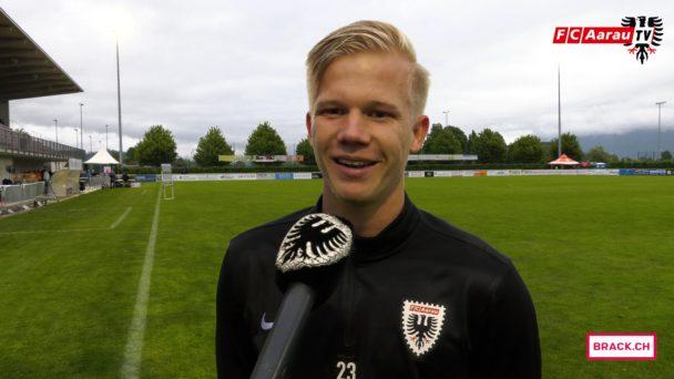 Video-Cover: FC Rapperswil-Jona - FC Aarau 2:3 (10.05.2018, Stimmen zum Spiel)
