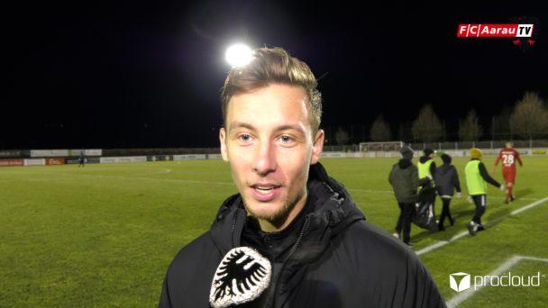 Video-Cover: FC Rapperswil-Jona - FC Aarau 1:2 (09.02.2019, Stimmen zum Spiel)