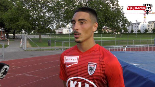 Video-Cover: FC Amriswil - FC Aarau 1:2 n.V. (18.08.2018, Stimmen zum Spiel)