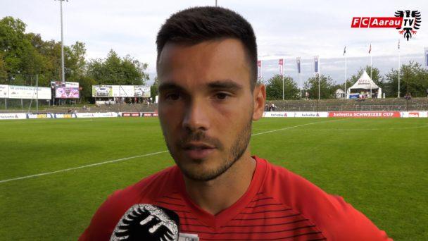 Video-Cover: FC Aarau - Neuchatel Xamax FCS 1:2 (Helvetia Schweizer Cup, Stimmen zum Spiel)