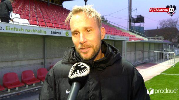 Video-Cover: FC Aarau - FC Vaduz 2:2 (10.11.2019, Stimmen zum Spiel)