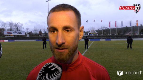 Video-Cover: FC Aarau - FC Schaffhausen 1:2 (02.02.2020, Stimmen zum Spiel)