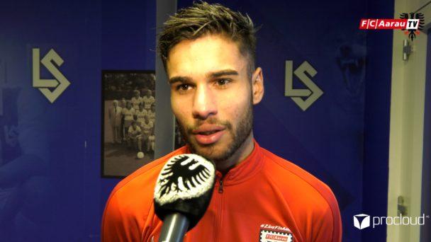 Video-Cover: FC Lausanne-Sport - FC Aarau 1:0 (16.02.2020, Stimmen zum Spiel)