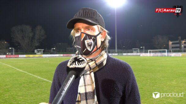 Video-Cover: FC Chiasso - FC Aarau 2:0 (05.03.2021, Stimmen zum Spiel)