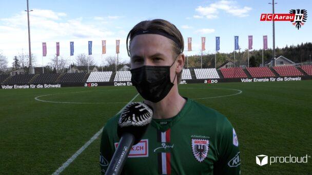 Video-Cover: FC Aarau - FC Schaffhausen 1:0 (03.04.2021, Stimmen zum Spiel)