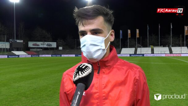 Video-Cover: FC Aarau - FC Chiasso 3:1 (16.04.2021, Stimmen zum Spiel)