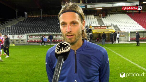 Video-Cover: FC Aarau - FC Chiasso 2:1 (03.10.2020, Stimmen zum Spiel)