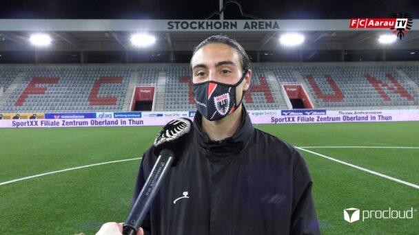 Video-Cover: FC Thun - FC Aarau 1:3 (14.05.2021, Stimmen zum Spiel)