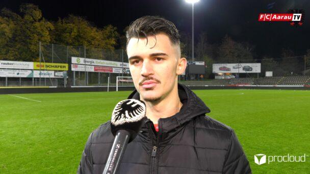 Video-Cover: FC Aarau - Neuchatel Xamax FCS 3:1 (24.10.2020, Stimmen zum Spiel)