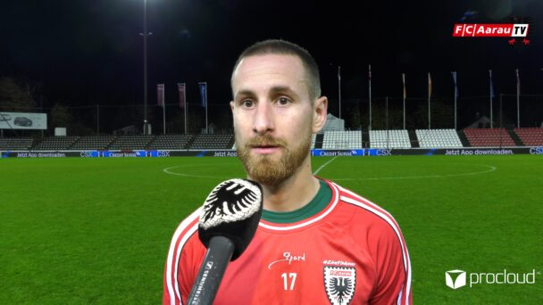 Video-Cover: FC Aarau - SC Kriens 2:2 (03.11.2020, Stimmen zum Spiel)