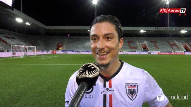 Video-Cover: FC Thun - FC Aarau 1:2 (06.08.2021, Stimmen zum Spiel)