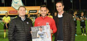 Teaser-Bild für Beitrag «100 FCA-Spiele, 40 Tore: Ehrung für Patrick Rossini»