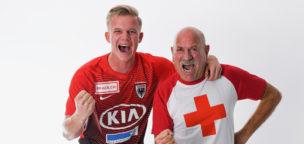 Teaser-Bild für Beitrag «FC Aarau spielt mit dem Roten Kreuz auf der Brust»