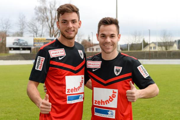 Neuzugänge Zoran Josipovic (links) und Patrick Rossini