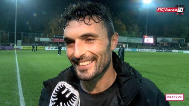 Video-Cover: Stimmen zum Spiel: FC Aarau - FC Le Mont-sur-Lausanne 2:0 (29.10.2015)