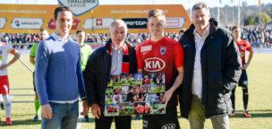 Teaser-Bild für Beitrag «Jubiläum für Marco Thaler: 100 Spiele im FCA-Trikot»
