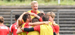Teaser-Bild für Beitrag «Mats Hammerich für die U19-Auswahl im Einsatz»