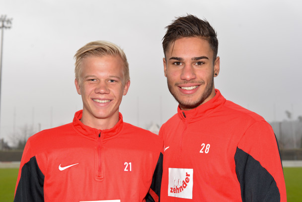 Gehören neu zur 1. Mannschaft: Mats Hammerich (links) und Miguel Peralta