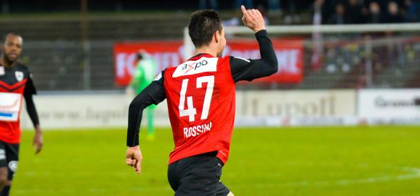 Patrick Rossini trifft bei seinem ersten Pflichtspiel für den FC Aarau